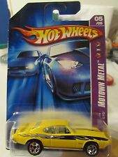 Hot Wheels '69 Pontiac Gto Motown Metal Yellow