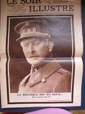 """LE SOIR ILLUSTRE N° 314 DU 24 FEVRIER 1934 """" LA BELGIQUE EST EN DEUIL"""""""