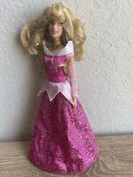 Disney Sleeping Beauty Aurora Princess Doll Pink Dress Articulated