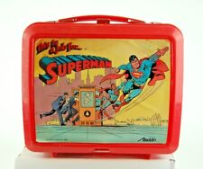 1986 Superman Dc Comics Lunchbox with Thermos by Aladdin