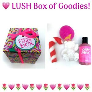 🎀🍓🎀 NEW BOXED! 🍒 LUSH 🍒 Christmas Candy Box 🍒 Snow Fairy Bear Angels Cane