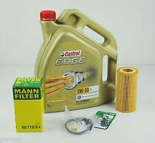 5L Castrol EDGE FST 5W-30 Longlife MANN Ölfilter Audi A1 A3 A4 A6 TT 2,0TSFI