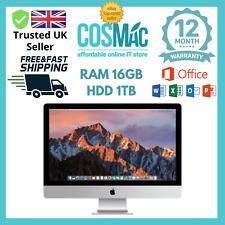 """Apple iMac 27"""" Quad Core i5 3.1Ghz 16GB 1TB  (Late,2011) A Grade 12 M Warranty"""