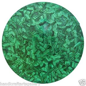 "36"" Green Marble Malachite Dining Table Top Handmade Inlay Stone Art Decors H473"
