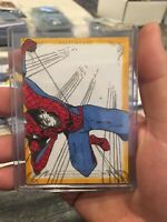 2018 Marvel Masterpieces Ethan Gray Autograph Sketch Card #1/1 Spiderman