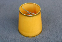 Vintage Small Round Clip On Old antique lamp shade Western Boudoir Gold Rim BB
