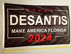 RON DESANTIS FLAG FREE SHIP USA SELLER! Make America Florida B 2024 USA Sign 3x5