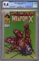 Marvel Comics Presents 75 CGC 9.4 Weapon X Wolverine Uncanny X-Men 1st Origin
