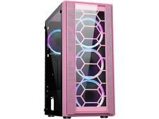 DIYPC Rainbow-Flash-F4-P Pink USB 3.0 Steel / Tempered Glass ATX Mid Tower Compu