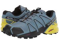 SALOMON MENS SPEEDCROSS 4 SHOES RUNNING TRAIL BLUESTONE 9-14 NEW SNEAKERS