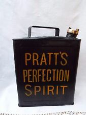 Vintage Pratts 2 Gallon Petrol Can With Brass Lid Car Caravan Rally Advertising