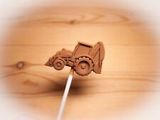 Digger/farm/vehicle/JCB/construction Belgian chocolate lollies/lollipops x 10