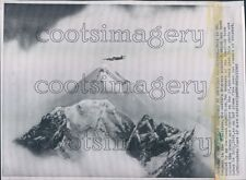 1963 RAF Plane Flies Over Mount Everest Summit Press Photo