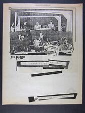 1978 the Sex Pistols Never Mind the Bollocks album promo vintage print Ad