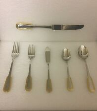 Dinner Table Cutlery's set Of 6 Pieces 24K Gold Electroplated