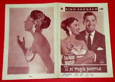 DU BIST MUSIK 1960 GERMAN CATERINA VALENTE PAUL HUBSCHMID EXYU MOVIE PROGRAM