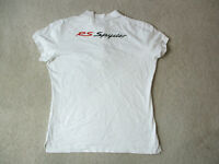 Porsche Polo Shirt Womens Extra Large White Drivers Selection RS Spyder Ladies *