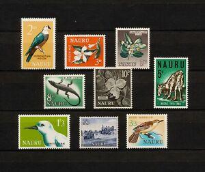 ✔️ (YYBD 033) Nauru 1963 - 1965 MLH Scott 49 - 56 Birds Flowers Flora Fauna