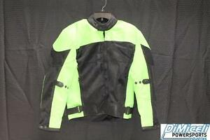 NEW SMALL S LIME GREEN POLYESTER MESH ARMOR MOTORCYCLE JACKET* JACKET RUN SMALL