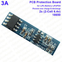 3A Over Charge Discharge Battery Protection Circuit Board for 2S 6.4v LiFePO4