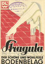 PC STRAGULA LINOLEUM , GERMAN VINTAGE ADVERTISING POSTCARD (b2111)