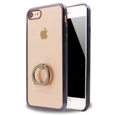 Apple iPhone 5 5S 5SE 6 6S 7 Plus Case Bumper Cover with Ring Holder Stand