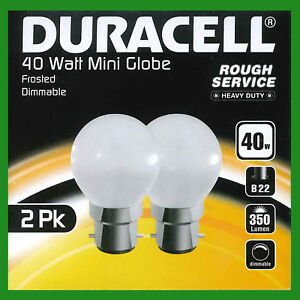 50x 40W Dimmable Frosted Golf Round Incandescent Light Bulbs BC B22 Bayonet Lamp