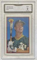 1989 Bowman Mark McGwire #197 Graded Card GMA PSA 9 - Athletics Cardinals