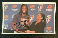 TINA CHARLES WNBA Connecticut Sun Auto Autographed Signed Custom 3x5 Index Card