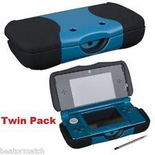 X2 Nintendo 3DS puissance Coque Rechargeable 1500Mah ÉTENDU Backup Pile JUMEAU