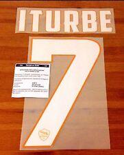 2014-15 come ROMA home shirt ITURBE #7 UFFICIALE STILSCREEN NOME NUMERO SET