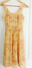 THIRD MILLENNIUM WOMENS FLORAL SUNDRESS PURE SILK WORK PARTY SZ 0