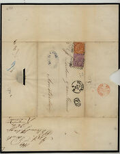 Italy   nice mourning cover to Amsterdam  1869   KL0110