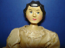 """Artist Signed Sherman Smith 6"""" Hitty Peg Wooden Storybook Character Doll 1964"""