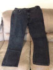 Mens Dickies Zip Fly Black Denim Jeans 40 X 34