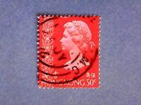 Hong Kong. QE2 1973 50c Light Orange-Vermilion. SG289. Wmk Ww12. P14½ x 14. Used