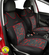 Front seat covers fit Mercedes 190 - VEST SHAPE VERLOUR  Red