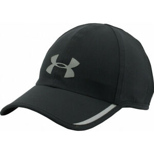 NEW Under Armour Mens Shadow ArmourVent Reflective Running Cap-Black/Silver OSFA