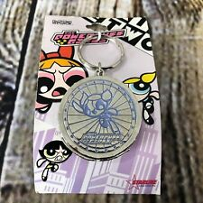 The Powerpuff Girls Bubbles Color Circle Metal Keychain with Mirror Side