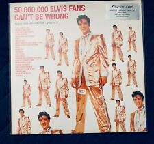 ELVIS Presley 1997 LP Vinyl record 50,000,000 fans can't be wrong vol.2 hits UK
