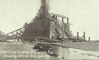 Lake View Gusher Maricopa California 1910 Postcard 642