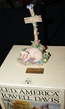 Lowell Davis  R.F.D. American DON'T PICK THE FLOWERS  Figurine WITH  Box PIG