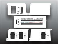 1987-1991 Jeep Wrangler YJ White Heater Control Switch Overlay HVAC