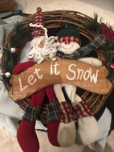 large christmas door wreath