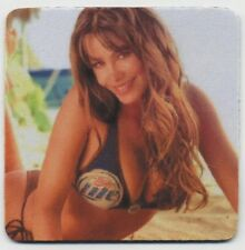 Sexy Miller Lite Beer COASTER - Beautiful Bikini Bier Girl
