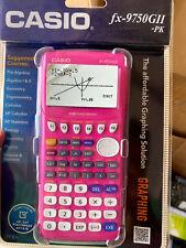 New Casio FX-9750GII-PK Graphing Calculator Pink - USB Power Graphic- Scientific