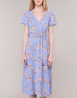 Polo Ralph Lauren Floral Sarah Short Sleeved Day Dress Blue RRP£210, SIZE 2/ UK6