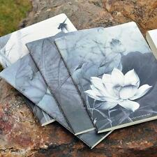 """""""Lotus Flowers"""" Exercise Book Pack of 4 Lined Notebook Journal Study Notepad"""