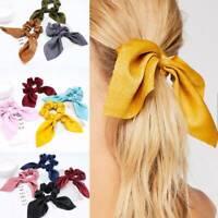Rubber Headband Women Hair Bows Ponytail Holder Hair Band Ties Scrunchies