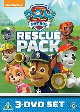 Paw Patrol: 1, 2 & 3 Rescue Pack DVD 2016 New & Sealed R4